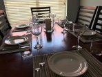 Family get-togethers are easy around the dining table