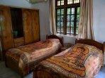 2nd Bedroom with 2 single solid wood Teak Beds & Teak wordrobe