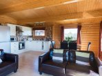 Greetham Valley Self Catering Lodge Seating Area