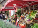 There are many independent shops selling local produce