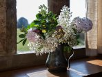 Free flowers supplied for the cottages. Flowers picked fresh from the garden.