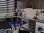 modern kitchen with all accessories