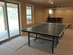 Ping Pong Table in Basement Entertaining Area