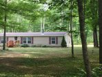 Surrounded by natural woods, this Gaylord vacation rental is an ideal retreat!