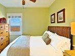 Master bedroom with peak-a-boo ocean views.