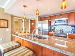 With Bosch stainless steel appliances and granite counters