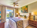 With bedroom West Maui Mountain views and balcony access