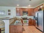 Fully furnished luxury kitchen.