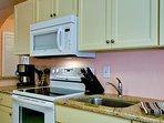 Kitchen Includes Electric Range
