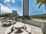 Waikiki Sunset Pool Deck and Diamond Head View
