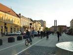 Cluj main pedestrian area