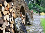 Free unlimited firewood supplied from our own woodland.