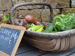We like our customers to try our home grown produce when possible.
