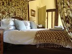 The Regency four poster in the Garden Room.
