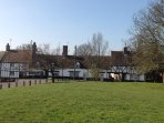 A view from Bury Orchard,  The Village Green, looking towards the Carpenters Arms.