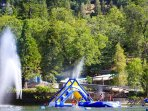 Lake Gregory is just 15 minutes away and has an amazing water park on the lake!