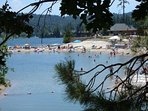Tavern Bay Beach is located on Lake Arrowhead.  It's private but our cabin includes passes for 12!