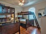 2nd Floor Bunk Bedroom #3, twins/fulls