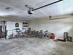 This spacious garage has room for 1-2 cars.