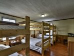 Bunk-style sleeping arrangements make this home ideal for large groups.