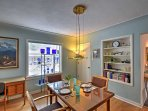 Share home-cooked meals at this elegant dining table.