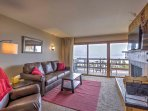 Soak in views of Lake Dillon and the surrounding mountain landscape.