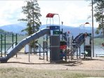 The kids will love the lakeside playground.
