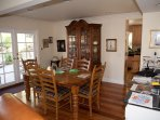 Upscale Ethan Allen Dining Room with new exotic hardwood floors