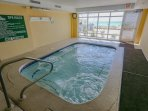 Internal heated hot tub/pool
