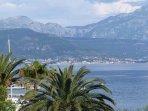 View of the mega-yacht marina Porto Montenegro in Tivat. Photo taken from the main balcony.