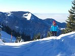 Skitour auf dem Kampenwandmassiv.