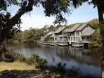 View of Night Heron Lake looking left on our back deck towards the Parkside villas and the park.