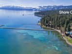 Lakefront in Tahoe City. Pier access. Private, secluded, very quiet. Pool.