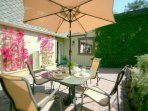 Sunny front patio / Entrance area.