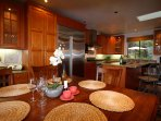 Open American style kitchen has plenty of amenities (for 22!) to get your group cooking!