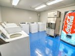 Complimentary washers and dryers available on 3rd floor of the bldg
