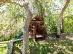 tree house and slide for children