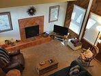 Living Room w/ flat screen TV, DVD Player, Amazon Firestick (Netflix/ Hulu/ RebullTV) + Sleeper Sofa