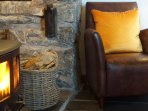 Sit back and relax in front of the woodburners - one in each living area
