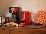 Coffee machine included, as well as a welcome pack on arrival