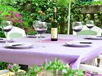 Dine in our beautiful Flower Garden. Available for your lunch and dinner parties on request.