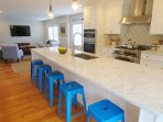 Extra large breakfast bar with 5 stools - 388 Main Street (The Priscilla House) Chatham Cape Cod New England Vacation...