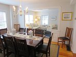 Dining table seats 10-12 -table can be expanded- 388 Main Street (The Priscilla House) Chatham Cape Cod New England...