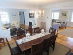 Dining table seats 10-12 -table can be expanded- view to both living areas from dining room- 388 Main Street (The...