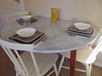 Dining table extends for 4 people