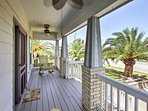 Bring your friends and family to stay at this 4-bedroom, 2-bathroom vacation rental house in Galveston, Texas.