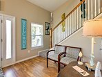 Beautiful hardwood floors greet your feet as you enter the property.
