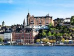 Södermalm, three stops away or 10 min, from the accommodation.