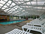 The second pool at Mountain View Condos is now covered, open year round.