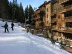 True ski in ski out at River Run Village directly to Gondola and high speed quad lift.